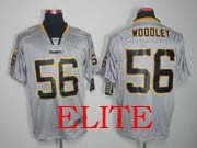 Mens Nfl Pittsburgh Steelers #56 Woodley Gray (light Out) Elite Jersey