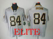 mens nfl Pittsburgh Steelers #84 Antonio Brown gray (light out) elite jersey