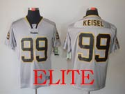 Mens Nfl Pittsburgh Steelers #99 Keisel Gray (light Out) Elite Jersey