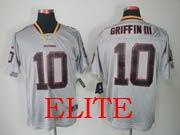 Mens Nfl Washington Redskins #10 Griffin Iii Gray (lights Out) Elite Jersey