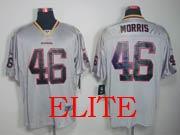 Mens Nfl Washington Redskins #46 Morris Gray (lights Out) Elite Jersey