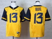 Mens Ncaa Nfl Virginia Mountaineers #13 Bule Yellow Elite Jersey Gz
