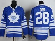 Mens reebok nhl toronto maple leafs #28 orr blue 3rd Jersey