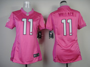 Women  Nfl Miami Dolphins #11 Wallace Pink Love Jersey