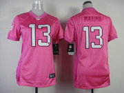 Women  Nfl Miami Dolphins #13 Marino Pink Love Jersey