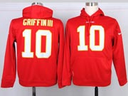 Mens Nfl Washington Redskins #10 Griffin Iii Red Hoodie Jersey