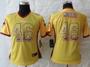 Women  Nfl Washington Redskins #46 Morris Drift Fashion Gold Elite Jersey