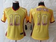 Women  Nfl Washington Redskins #10 Griffin Iii Drift Fashion Gold Elite Jersey