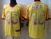 Mens Nfl Washington Redskins #46 Morris Drift Fashion Yellow Elite Jersey