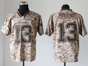 Mens Nfl Miami Dolphins #13 Marino Camo Us Army Jersey