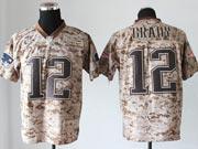 mens nfl New England Patriots #12 Tom Brady camo us mccuu jersey