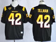 Mens Ncaa Nfl Arizona State Sun Devils #42 Tillman Black (asu) Jersey Gz