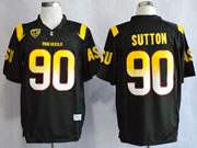 Mens Ncaa Nfl Arizona State Sun Devils #90 Sutton Black (asu) Jersey Gz