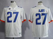 Mens Ncaa Nfl Boise State Broncos #27 Ajayi White Jersey Gz