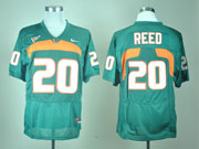 Mens Ncaa Nfl Miami Hurricanes #20 Reed Green Jersey Gz