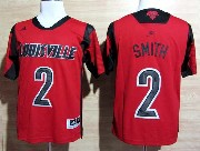 Mens Ncaa Nba Louisville Cardinals #2 Smith Red Jersey Gz