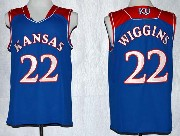 Mens Ncaa Nba Kansas Jayhawks #22 Wiggins Blue Jersey Gz