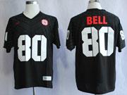 Mens Ncaa Nfl Nebraska Cornhuskers #80 Bell Black Jersey Gz