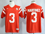 Mens Ncaa Nfl Nebraska Cornhuskers #3 Martinez Red Jersey Gz