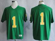 Mens Ncaa Nfl Notre Dame #1 Nix Iii Green Jersey Gz
