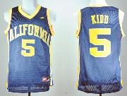 Mens Ncaa Nba California Golden Bears #5 Kidd Blue Jersey Gz