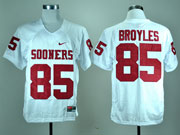 Mens Ncaa Nfl Oklahoma Sooners #85 Broyles White Elite Jersey Gz