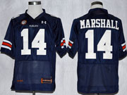 Mens Ncaa Nfl Auburn Tigers #14 Marshall Dark Blue Elite Jersey Gz