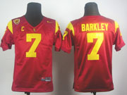 Youth Ncaa Nfl Usc Trojans #7 Brakley Red Elite Jersey Gz