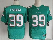 Mens Nfl Miami Dolphins #39 Csonka Green (2013 New) Elite Jersey