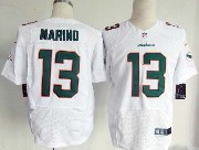Mens Nfl Miami Dolphins #13 Marino White (2013 New) Elite Jersey