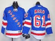 youth reebok nhl new york rangers #61 nash light blue Jersey