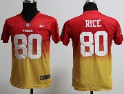 Youth Nfl San Francisco 49ers #80 Rice Red&yellow Drift Fashion Ii Elite Jersey