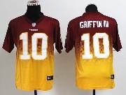 Mens Nfl Washington Redskins #10 Griffin Iii Red&yellow Drift Fashion Ii Elite Jersey