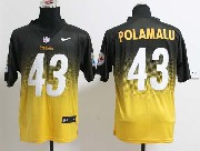 Mens Nfl Pittsburgh Steelers #43 Polamalu Black&yellow Drift Fashion Ii Elite Jersey