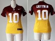 Women  Nfl Washington Redskins #10 Griffin Iii Red&yellow Drift Fashion Ii Elite Jersey