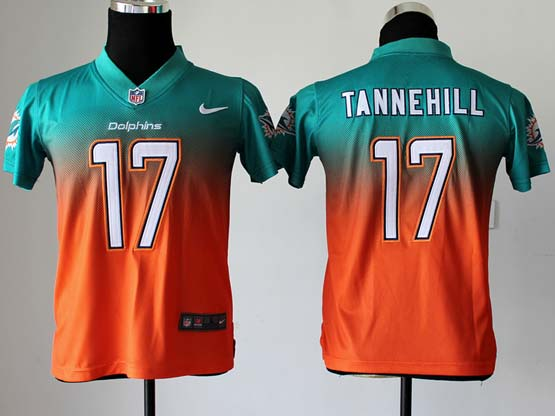 Youth Nfl Miami Dolphins #17 Tannehill Green∨ange Drift Fashion Ii Elite Jersey