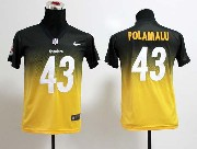 Youth Nfl Pittsburgh Steelers #43 Polamalu Black&yellow Drift Fashion Ii Elite Jersey