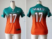 Women  Nfl Miami Dolphins #17 Tannehill Green∨ange Drift Fashion Ii Elite Jersey