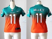 Women  Nfl Miami Dolphins #11 Wallace Green∨ange Drift Fashion Ii Elite Jersey