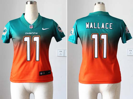 Women  Nfl Miami Dolphins #11 Wallace Green&orange Drift Fashion Ii Elite Jersey