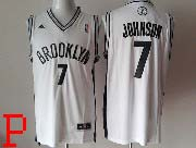 Mens Nba Brooklyn Nets #7 Johnson (brooklyn) Full White Revolution 30 Jersey (p)