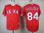 Mens mlb texas rangers #84 fielder red Jersey
