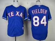 Mens mlb texas rangers #84 fielder blue Jersey