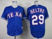 Mens mlb texas rangers #29 beltre blue Jersey