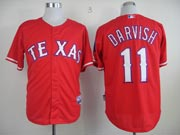 Mens mlb texas rangers #11 darvish red Jersey
