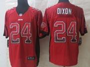 Mens Nfl San Francisco 49ers #24 Dixon Drift Fashion Red Elite Jersey