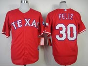 Mens mlb texas rangers #30 feliz red (2014 new) Jersey