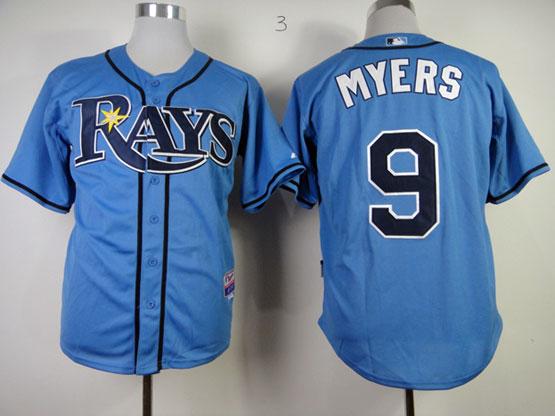 Mens mlb tampa bay rays #9 myers light blue Jersey