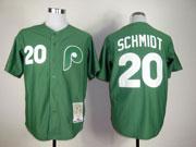 Mens Mitchell&ness Mlb Philadelphia Phillies Custom Made Green Throwbacks Jersey