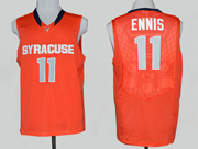 Mens Ncaa Nba Syracuse Orange #11 Ennis Orange Jersey
